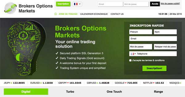 Broker options binaires amf